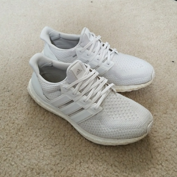 Adidas Ultra Boost 2.0 White Size 10 Low Top Sneakers for